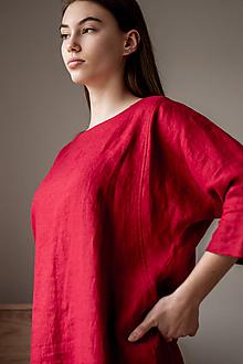 Šaty - Ľanové šaty Kimono - 11757627_