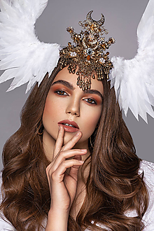 Ozdoby do vlasov - Anjelská koruna s krídlami - 11755449_