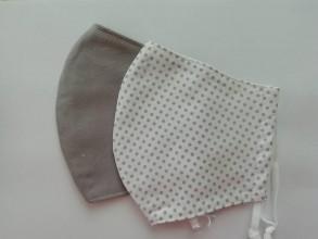 """Rúška - Bavlnené rúška pre dospelých """"sivé"""" - 11756932_"""