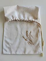 Úžitkový textil - Vrecúško na pečivo a chlebík - 11758535_