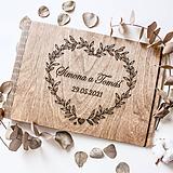 Papiernictvo - Svadobná kniha hostí/album (А-4 Сraft papier) - 11755475_