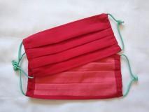 Rúška - Rúško červené dvojvrstvové ľahké - 11759942_