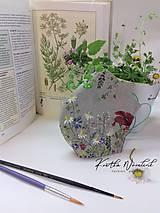 Rúška - Ručne maľované ľanové rúška s priestorom na filter  - 11759303_