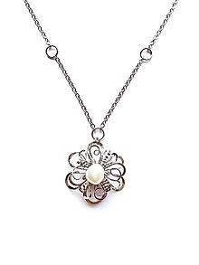 """Náhrdelníky - Náhrdelník HR4 """"Nezbytné maličkosti"""" bílá perla - 11761698_"""