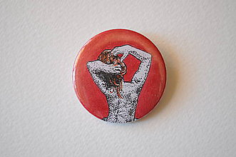 Odznaky/Brošne - Odznak Žena akt zmysel - 11761527_