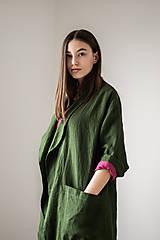 Kabáty - Ľanový kabát America (L) - 11759635_