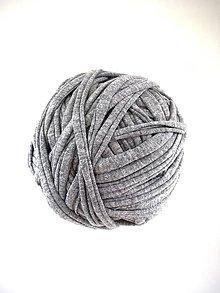 Materiál ručne robený - Tričkovlna AJ NA RÚŠKA...ŠEDÁ melír (bavlna) - 11759166_
