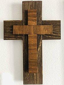 Dekorácie - Drevený kríž - 11759020_