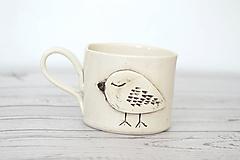 Nádoby - Espresso šálka Jarný vtáčik - 11760646_