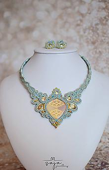 """Náhrdelníky - Šujtášový náhrdelník """"Koruna"""" so Swarovski - 11760238_"""