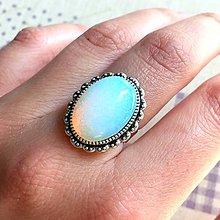 Prstene - ZĽAVA 45% Opalite & Vintage Lace Ring / Prsteň s opalitom - 11762781_