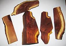 Iný materiál - Narezané drievka, polienko z dreva SLIVKA - sada 5 kusov - 11766120_