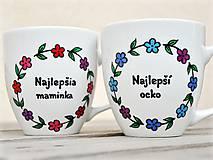 Nádoby - Porcelánový hrnček kvetinkový pre maminku/ocka - 11764178_