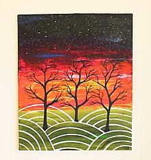 Obrazy - Nebo plné hviezd (obraz na plátne) - 11765261_