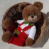 Hračky - Háčkovaný medvedík Izidor - 11765857_