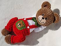 Hračky - Háčkovaný medvedík Izidor - 11765858_