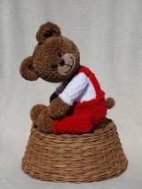 Hračky - Háčkovaný medvedík Izidor - 11765859_