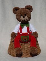 Hračky - Háčkovaný medvedík Izidor - 11765861_