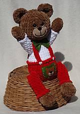 Hračky - Háčkovaný medvedík Izidor - 11765862_