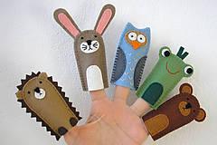 Hračky - Maňušky na prst - Zvieratká v lese (medveď) - 11762887_