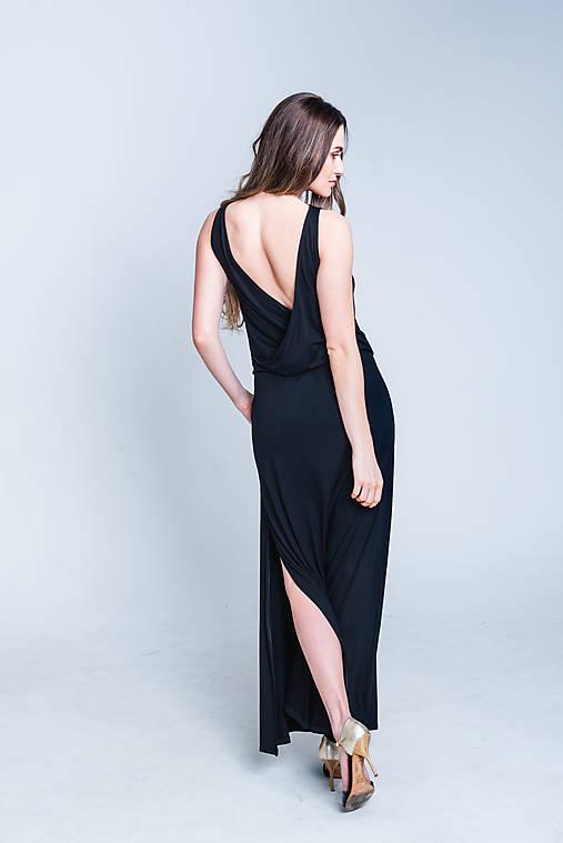 Šaty - Dlhé šaty s odhaleným chrbtom - 11762347_