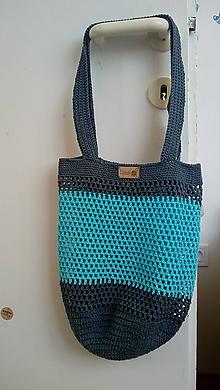 Nákupné tašky - Tyrkys sieťovka - 11763206_