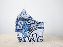 Rúška - Dizajnové tvarované 3 vrstvové ochranné rúško 100% bavlna s priestorom na filter - Komix (M - detské od 13r., teenageri, dámske) - 11762678_