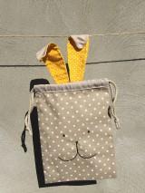 Úžitkový textil - iba 1 ks vrecúčko zajko žlté ušká - 11763265_