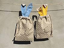 Úžitkový textil - iba 1 ks vrecúčko zajko žlté ušká - 11763266_
