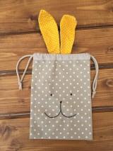 Úžitkový textil - iba 1 ks vrecúčko zajko žlté ušká - 11763269_
