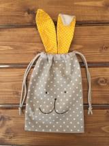 Úžitkový textil - vrecúčko zajko žlté ušká..posledný ks - 11763270_