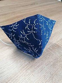 Rúška - Modrotlačové rúško 2-vrstvové na vkladanie  tvarované - 11764196_