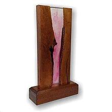 Svietidlá a sviečky - Stolná lampa vyrobená z dreva a epoxidu 2 - 11762616_