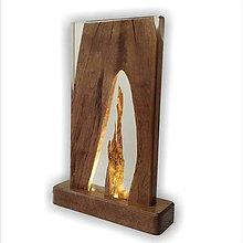 Svietidlá a sviečky - Stolná lampa vyrobená z dreva a epoxidu 3 - 11762958_