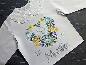 Detské oblečenie - Modrý iskerník- košieľka na krst - 11768558_