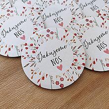 Darčeky pre svadobčanov - Magnetky pre svadobčanov lúčny venček - 11768854_