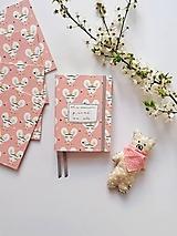 Papiernictvo - A6 ZÁPISNÍK myšky (nápis na želanie) - 11767453_