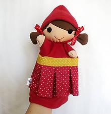 Hračky - Maňuška dievčatko - Červená čiapočka - 11770347_