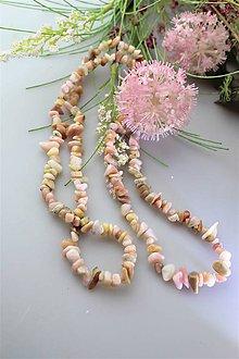 Náramky - ružový andský opál náhrdelník - 11770068_