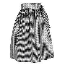 Sukne - EVA - zavinovacia nariasená sukňa (07_čiernobiele pásiky) - 11766819_