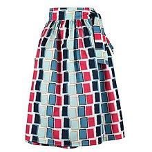 Sukne - EVA - zavinovacia nariasená sukňa (12_abstraktné obdĺžniky) - 11766906_