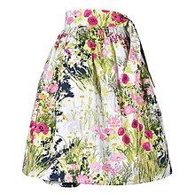 Sukne - EVA - zavinovacia nariasená sukňa (34_letná záhrada) - 11766910_