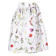 Sukne - EVA - zavinovacia nariasená sukňa (38_biela bylinková) - 11766913_