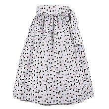 Sukne - EVA - zavinovacia nariasená sukňa (40_biela bodkovaná) - 11766914_