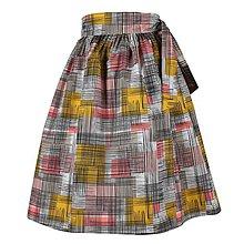 Sukne - EVA - zavinovacia nariasená sukňa (47_ružovohorčicová s čiernymi) - 11766924_