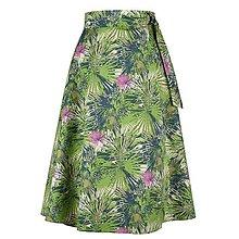 Sukne - ADA - zavinovacia áčková sukňa (23_zelená abstrakcia) - 11767079_