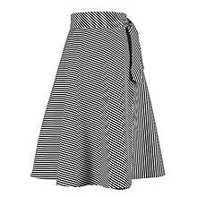 Sukne - ADA - zavinovacia áčková sukňa (07_čiernobiele pásiky) - 11767088_