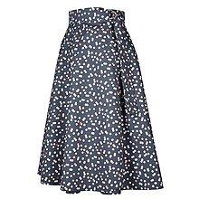 Sukne - ADA - zavinovacia áčková sukňa (27_sivá bodkovaná) - 11767090_