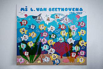 Nezaradené - Ručne vyrobené detské tablo rybičky - 11766831_
