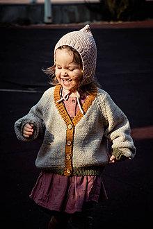 Detské oblečenie - Sveter Amélia beige/ochre/green - 11768371_